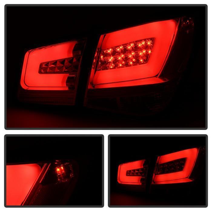 Spyder Light Bar LED Tail Lights - Red Smoke 2011-2016 Chevrolet Cruze