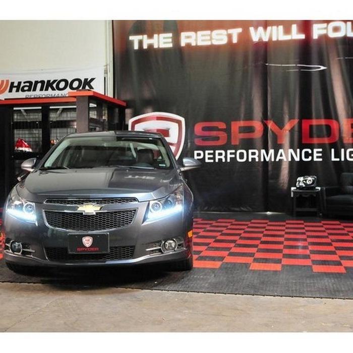 Spyder Projector Headlights Led Halo Drl Black 2011