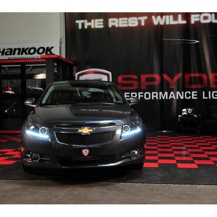 Spyder Projector Headlights Led Halo Drl Black 2011