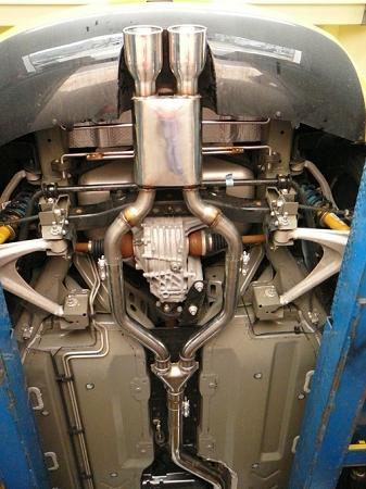 Solo Performance Race- Center Dual Exhaust 2007-2009 Pontiac Solstice  GXP/Saturn Sky Redline