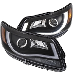 ANZO USA PROJECTOR HEADLIGHTS PLANK STYLE (BLACK CLEAR AMBER) 2015-2017 Chevrolet Colorado