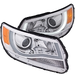 ANZO USA PROJECTOR HEADLIGHTS PLANK STYLE (CHROME CLEAR AMBER) 2015-2017 Chevrolet Colorado