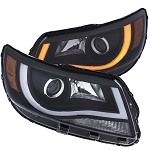 ANZO USA PROJECTOR HEADLIGHTS PLANK STYLE SWITCHBACK (BLACK CLEAR / AMBER) 2015-2017 Chevrolet Colorado