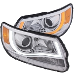 ANZO USA PROJECTOR HEADLIGHTS PLANK STYLE SWITCHBACK (CHROME CLEAR / AMBER) 2015-2017 Chevrolet Colorado