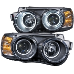 ANZO USA PROJECTOR HEADLIGHTS - BLACK w/HALO (CCFL) 2012-2016 CHEVROLET SONIC