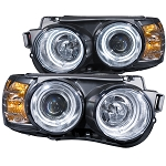 ANZO USA PROJECTOR HEADLIGHTS - CHROME w/HALO (CCFL) 2012-2016 CHEVROLET SONIC
