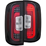 ANZO USA LED TAIL LIGHTS BLACK 2015-2017 Chevrolet Colorado