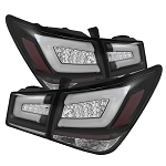 Spyder Light Bar LED Tail Lights - Black 2011-2016 Chevrolet Cruze