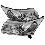Spyder Projector Headlights - LED Halo -DRL - Chrome 2011-2016 Chevrolet Cruze