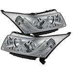 Spyder Projector Headlights - Light Tube DRL - Chrome 2011-2016 Chevrolet Cruze