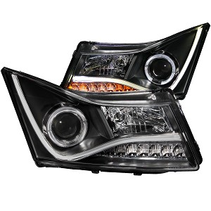 ANZO USA PROJECTOR HEADLIGHTS BLACK w/HALO CCFL 2011-2016 Chevrolet Cruze
