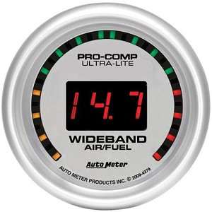 Autometer Ultra-Lite 52mm Digital Wideband Air/Fuel Ratio Street Gauge