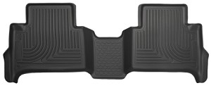 Husky Liners 2015+ Chevrolet Colorado Crew Cab WeatherBeater Black 2nd Seat Floor Liners