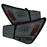 Spyder Light Bar LED Tail Lights - Smoked 2011-2016 Chevrolet Cruze