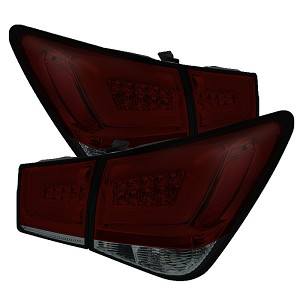 Spyder Light Bar LED Tail Lights - Red Smoke 2011-2016 Chevrolet Cruze