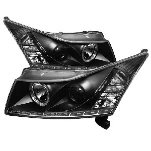 Spyder Projector Headlights - LED Halo -DRL - Black 2011-2016 Chevrolet Cruze