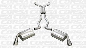 Corsa 10-15 Chevrolet Camaro Convertible RS 3.6L V6 Polished Sport Cat-Back + XO Exhaust